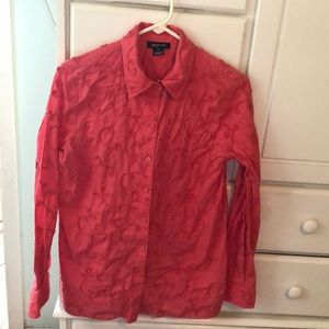 Raspberry 100% Cotton Jones New York L/S blouse